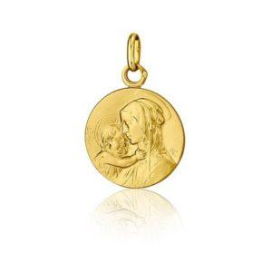 Médaille de baptême Vierge à l'Enfant - SANCTIS