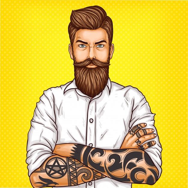 Bien dessiner les contours de sa barbe